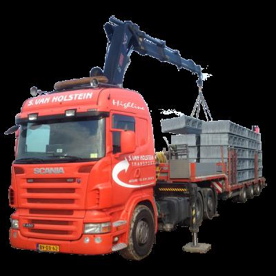 S van Holstein Transport met Kraan